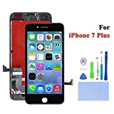 #4: iPhone 7 Plus Screen Replacement for LCD Display Screen Digitizer Frame Assembly Full Set with Free Tools and 3D Touch for iPhone 7 5.5 inch(Black)