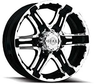 Gear Alloy Double Pump 18x9 Black Wheel / Rim 6x5.5 with a 10mm Offset and a 107.95 Hub Bore. Partnumber 713MB-8908410