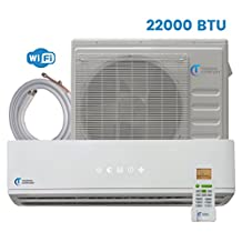 Mini Split Air Conditioner - 22000 BTU up to 24000 BTU - 2 Ton - 20.5 SEER Inverter with WiFi - Ductless Heat Pump - AC Unit Split System For Heating & Cooling 230V