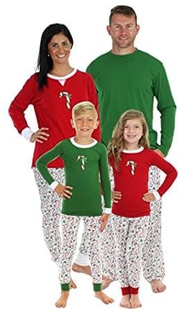 Sleepyheads Candy Cane Family Matching Pajama Set - Kids - Green Top (SHM-4035-K-GRN-2T)