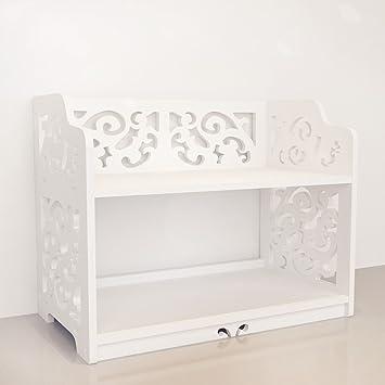 Revesun DIY Multi Use Wooden Table Ladies Makeup Cosmetics Boxes Bookshelf And Kitchen Shelf White