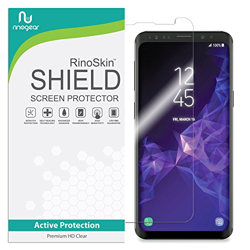 Galaxy S9 Screen Protector (Edge-to-Edge) RinoGear Flexible HD Crystal Clear Anti-Bubble Unlimited Replacement Film