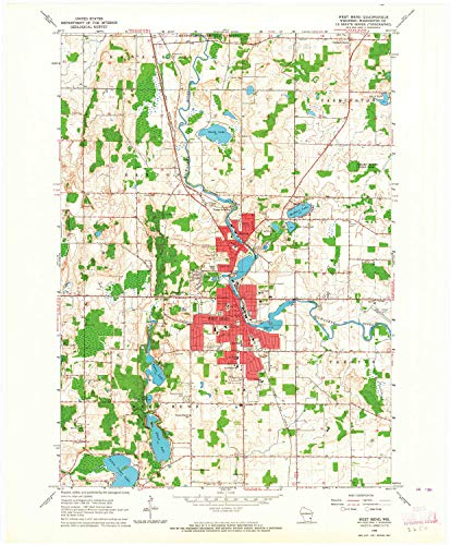 YellowMaps West Bend WI topo map, 1:24000 Scale, 7.5 X 7.5 Minute, Historical, 1959, Updated 1964, 27.39 x 22.68 in - Tyvek (By Wi Wingate)