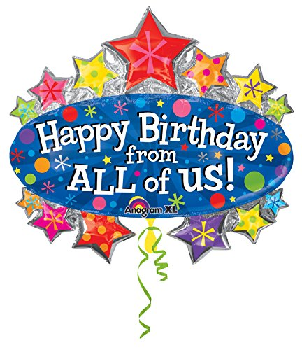 Anagram 21932 Happy Birthday From All Marquee Foil Balloon 31
