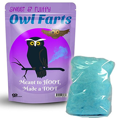 Cute Silly Candy (Owl Farts Cotton Candy – Owl Gifts - Cotton Candy Gag Gifts – Silly Stocking Stuffers – Funny Cotton Candy – Funny Fart Gifts – White Elephant Gifts – Unisex Gift Exchange by Gears Out)