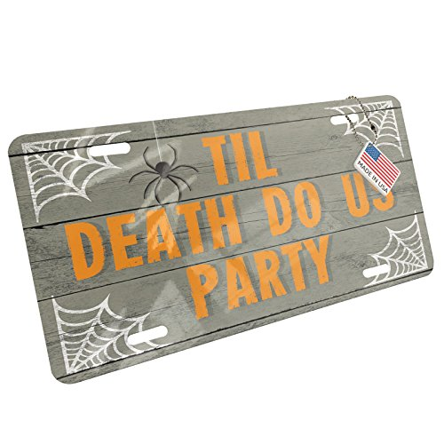 NEONBLOND Metal License Plate Til Death Do Us