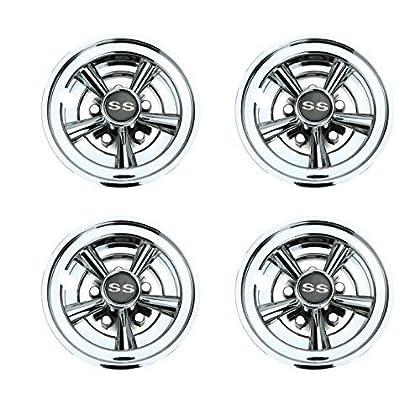 World 9.99 Mall Golf Cart SS Wheel Covers Hub Caps for YAMAHA Club CAR  ... e3859399f6c