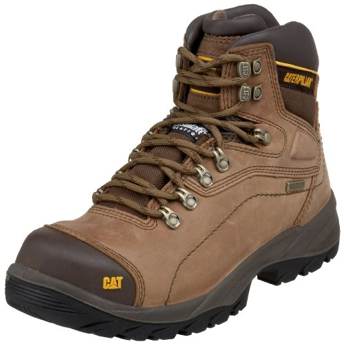 Caterpillar Men's Diagnostic Hi Cut Cap Soft Toe Waterproof Boot,Dark Beige,9 M US
