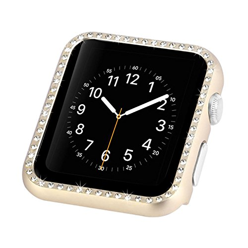 Series Edge Diamond (For Apple Watch Case 42mm Diamond, Originality Club Shock-proof and Anti-scratch Hard Shiny Diamond Protector Bumper Cover Shell Frame for 38mm Apple Watch Series 3/2 / 1)