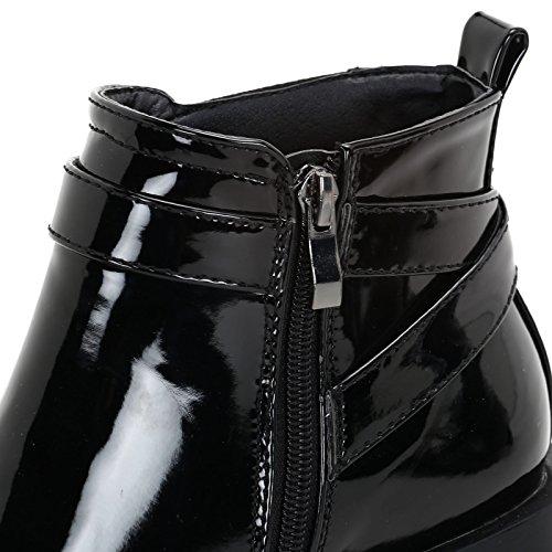 Scarpe Fibbia Alti Elastico Vernice Cm amp;scarpe Stivaletti In Nero 5 Ed Prendimi Con Tacco axUwdXqaZ