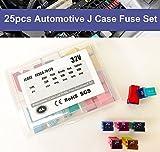 HJL 25 Pcs Automotive J Case Low Profile Fuse Assortment Set 32V 20A 30A 40A 50A 60A
