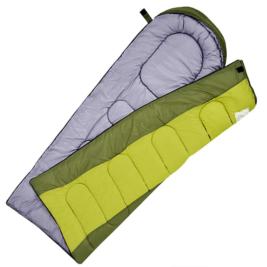 HWLYM Erwachsene Outdoor-Reisen Vier Jahreszeiten Warme Schlafsack Winter Indoor Camping Camping Camping Dicke Einzelne Einzelne Schmutzige Matte (Farbe   Grün) B07NQGVFF6 Deckenschlafscke Ab dem neuesten Modell cb494a
