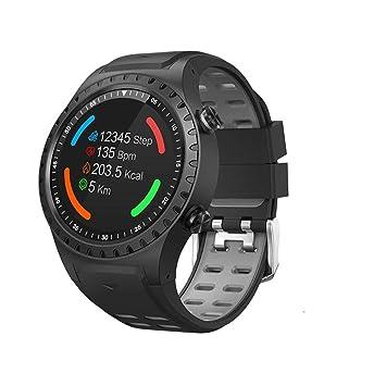 Bluetooth Smartwatch, SMA-M1 GPS Reloj deportivo Llamada Bluetooth Modo multideportes Brújula Monitor de ritmo cardíaco Podómetro para Android y iOS: ...