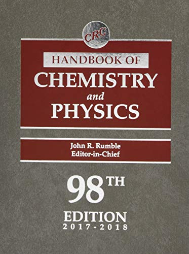 CRC Handbook of Chemistry and Physics, 98th Edition (Handbook Of Chemistry And Physics The Elements)