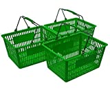 Green Shopping Baskets (Set of 3)