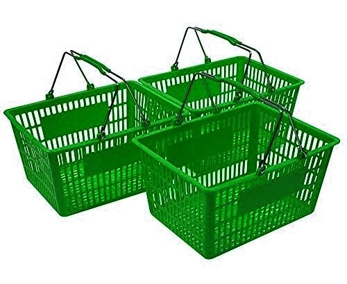 Green Shopping Baskets (Set of 3) by Only Hangers