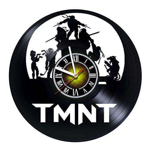 shopARMUS Teenage Mutant Ninja Turtles TMNT Vinyl Record Wall Clock - Contemporary and Creative Bedroom Wall Decor - Modern Fan Art - Best Gift Idea for Boys and Girls