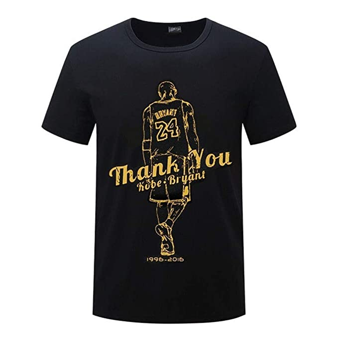 new product 4c730 50f5a Image Unavailable. Image not available for. Color  Men s Fashion Black  Mamba Kobe Retire Memorial Black Short Sleeved Print T-Shirt Plus Size