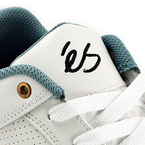 ES - Zapatillas de skateboarding de Piel para hombre blanco blanco (White/Gum)