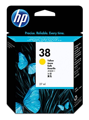 HP 38 Yellow Pigment Original Ink Cartridge (C9417A) DISCONTINUED BY MANUFACTURER