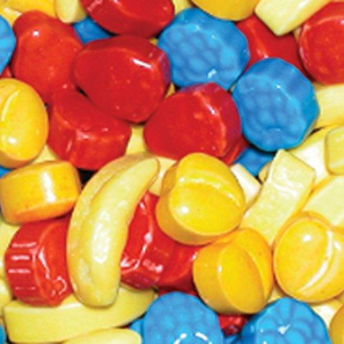 Concord Shape - Dubble Bubble Rascals Assorted Fruit Shapes Hard Candy, 2 Pounds Vending.