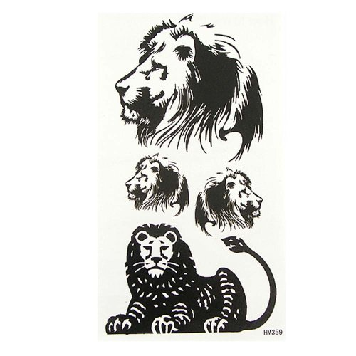 GGSELL King Horse Men temporary tattoos lion sexy cool