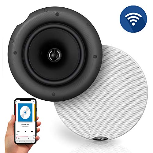 "Pyle Pair 6.5"" Bluetooth Universal Flush Mount in-Wall in-Ceiling 2-Way Speaker System Dual Polypropylene Cone & Polymer Tweeter Stereo Sound 300 Watts (PDICBT67)"