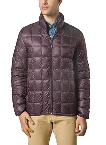 (XPOSURZONE Men Packable Down Quilted Puffer Jacket Lightweight Puffer Coat Mahogany XXL)