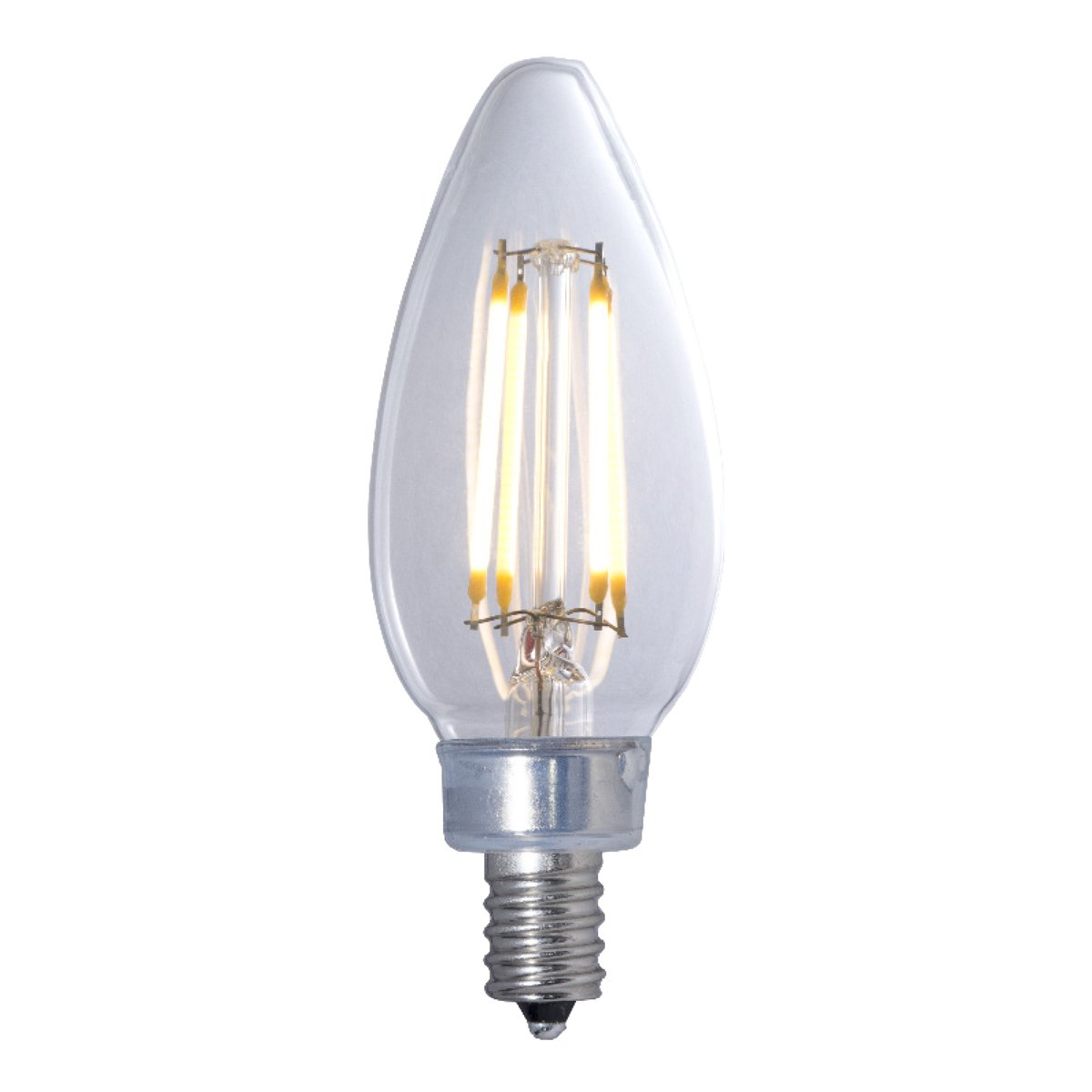 (PACK OF 20) 4.5W LED B11 3000K FILAMENT E12 FULLY COMPATIBLE DIMMING JA8