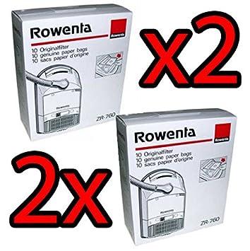 2 X Rowenta 20 Bolsas originales zr760 Extreme S3 Premio presty ...