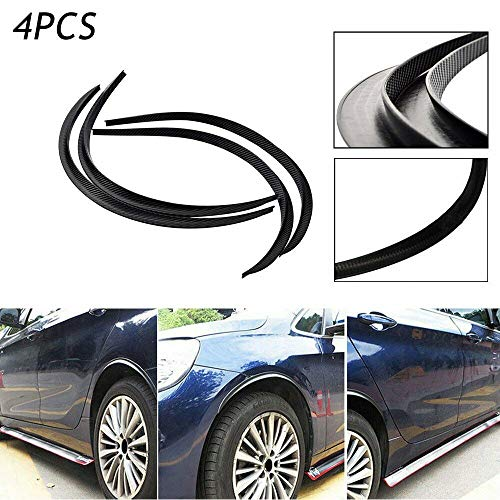 Universal Fender Flares Wheel Eyebrow Arch Protector Trim Lips Fiber Carbon 4X28 4Pcs