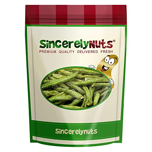 Sincerely Nuts Green Bean Chips - Two Lb. Bag – Delectably Dried & Fried - Lightly Seasoned - Unbelievably Crunchy Veggie Snacks – Kosher Certified!