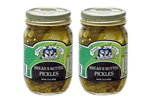 Amish Wedding Foods Bread N Butter Pickles 2-15 Oz Glass Quarts All Natural (N Pickles Butter Bread)