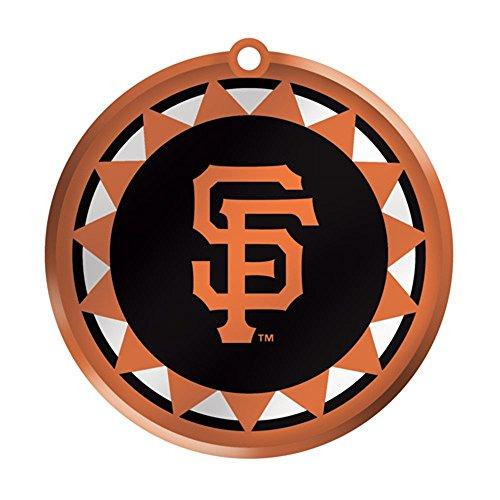 MLB Blown Glass Logo Disc Ornament MLB Team: San Francisco Giants