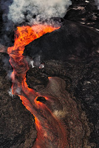 'Respect' Kilauea East Rift Zone 2018 lava Eruption, Hawaii Island - large unframed original print direct from Big Island photographer Harry Durgin by Tanglewood Gallery