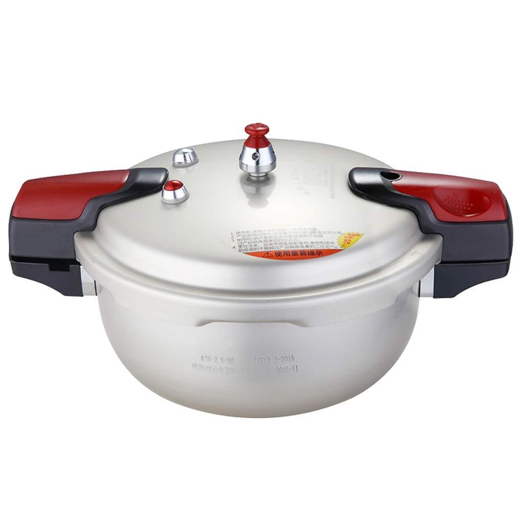 家庭用圧力鍋 アルミ合金の圧力鍋の世帯のガスの電磁調理器普遍的な小型1-6人の銀 時間を節約 (サイズ : 20cm) 20cm  B07SRZHFTY