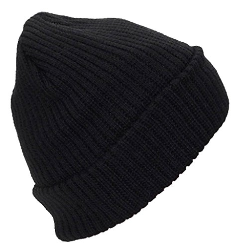 Best Winter Hats Adult Solid Color Thick W/Fleece Lined Cuffed Beanie (One Size)