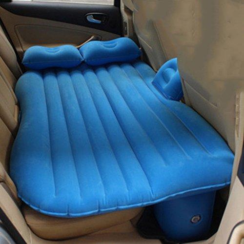カーエアベッドエアマットレスカーマットレスSUVカーベッド B07DRZVJK7 青 青