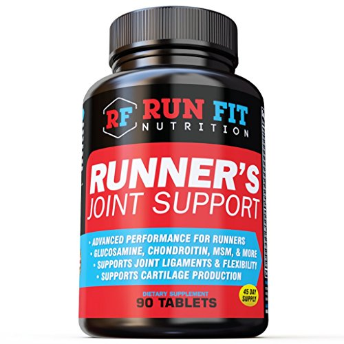 Runner's Joint Support – Relieves Knee Pain & Protects Joints – Joint Supplements – Glucosamine Chondroitin MSM – 1 1/2 Month Supply!