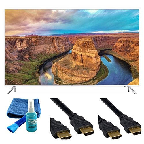 Price comparison product image UN55KS8500 Curved 55-Inch 4K Ultra HD Smart LED TV (2016 Model) - Starter Bundle