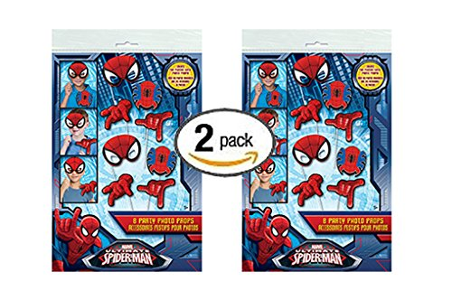 2 PK Spiderman Photo Booth Props, 16pc