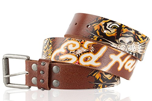 Ed Hardy EH1201 Tiger Open Mouth Kids-Boys Leather Belt - - Hardy Leather Ed