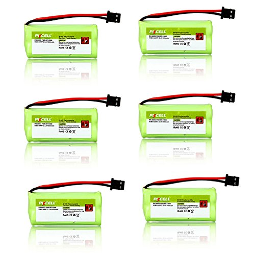 6Pcs Cordless Telephone Rechargeable Nimh Battery Aaa 2.4v 800mah for Uniden BT-1008 BT1008