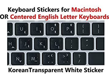 KOREAN TRANSPARENT KEYBOARD STICKERS WITH WHITE LETTERS | eBay