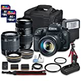 Canon EOS 7D Mark II DSLR Camera Bundle with Canon EF-S 18-55mm f/3.5-5.6 IS STM Lens + Tamron Zoom Telephoto AF 70-300mm f/4-5.6 Macro Autofocus Lens + 2 PC 16 GB Memory Card + Camera Case