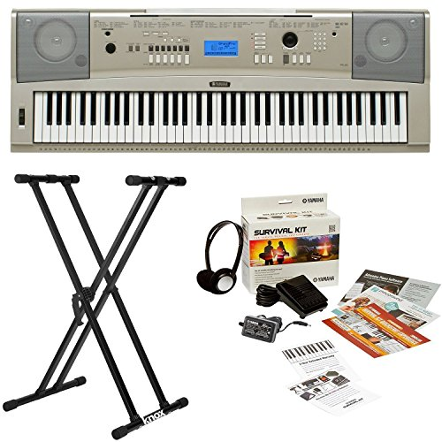 Yamaha YPG-235 76-Key Portable Grand Piano Keyboard Bundle w