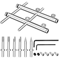 Neewer Camera Lens Openning Repairing Tool Kit Includes: 10-100mm Lens Repair Set with 3 Tips, 6 Screws and 2 Hexagon Wrench for Canon Nikon Sony Olympus DSLR Camera