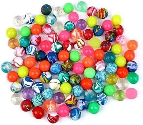 Schramm® 100 Piezas de Bolas de Rebote Coloridas Bolas de Rebote Mixtas de 20mm Bola de Rebote Bola de Rebote Tómbola Fiesta de cumpleaños Infantil Paquete de 100