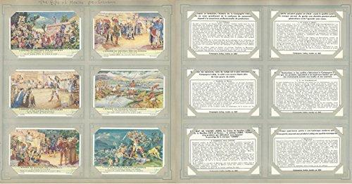 Liebig, Set 6 Cards, F1488, 1950, Pre-Colombian Mexico, Axtec, Montezuma