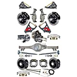 """NEW SUSPENSION & BRAKE SET WITH CURRIE REAR END, AXLES, POSI-TRAC GEAR, DROP SPINDLES, WILWOOD 13"""" DISC BRAKES, BLACK CALIPERS, CYLINDER, BOOSTER, ARMS, 59-64 CHEVY IMPALA BEL AIR BISCAYNE BROOKWOOD"""